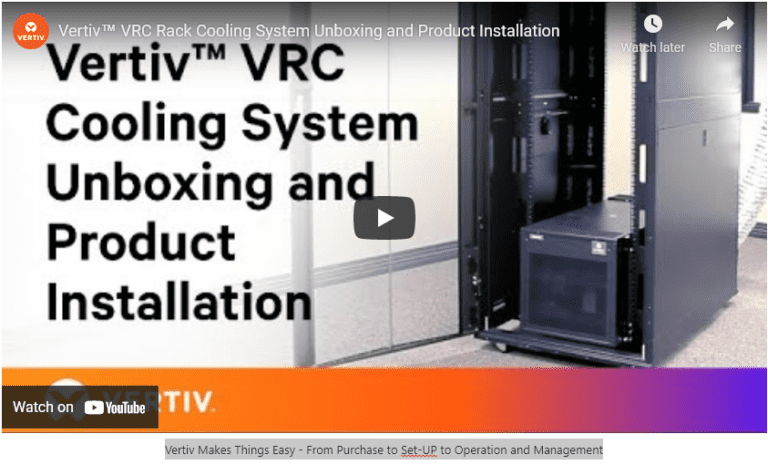Vertiv Vrc Unboxing And Installation